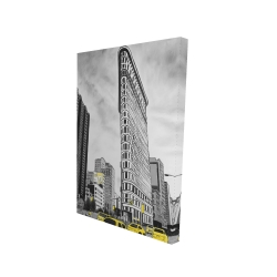 Canvas 24 x 36 - 3D - Outline of flatiron building to new-york