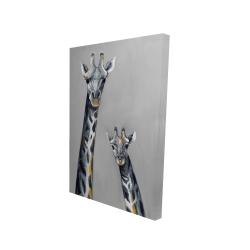 Canvas 24 x 36 - 3D - Steel blue giraffe