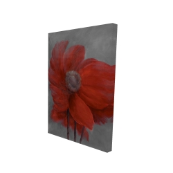 Canvas 24 x 36 - 3D - Red flower in the wind