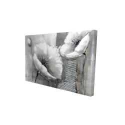 Canvas 24 x 36 - 3D - Industrial monochrome flowers