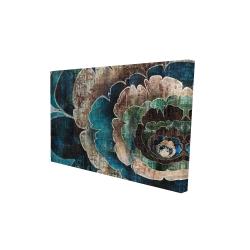 Canvas 24 x 36 - 3D - Blue flower montage