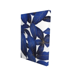 Canvas 24 x 36 - 3D - Abstract modern blue leaves