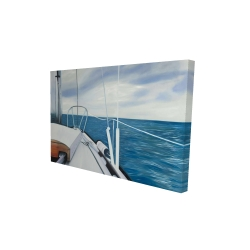 Canvas 24 x 36 - 3D - Sail on the water