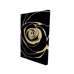 Canvas 24 x 36 - 3D - Black rose