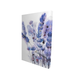 Canvas 24 x 36 - 3D - Watercolor lavender flowers