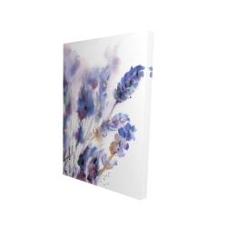 Canvas 24 x 36 - 3D - Watercolor lavender flowers with blur effect