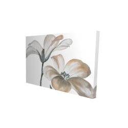 Canvas 24 x 36 - 3D - Beautiful desaturated flowers