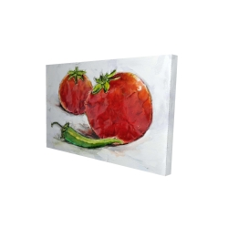 Canvas 24 x 36 - 3D - Tomatoes with jalapeño