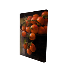 Canvas 24 x 36 - 3D - Bucket of cherry tomatoes