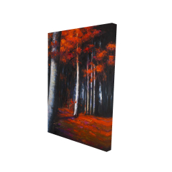 Canvas 24 x 36 - 3D - Mysterious forest