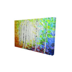 Canvas 24 x 36 - 3D - Colorful forest
