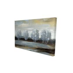 Canvas 24 x 36 - 3D - Grey landscape