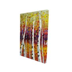 Canvas 24 x 36 - 3D - Colored birches