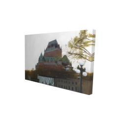 Canvas 24 x 36 - 3D - Le château de frontenac in autumn