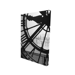 Canvas 24 x 36 - 3D - Clock at the orsay museum