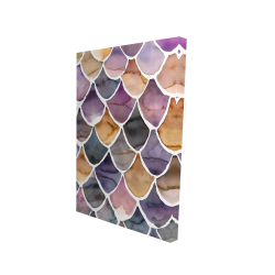 Canvas 24 x 36 - 3D - Purple like a mermaid