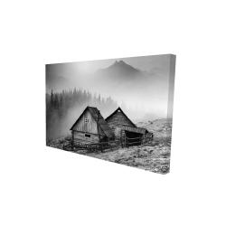 Canvas 24 x 36 - 3D - Mountain carpathian village