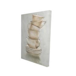 Canvas 24 x 36 - 3D - Coffee mugs