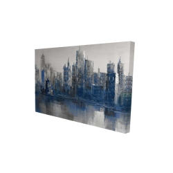 Canvas 24 x 36 - 3D - Melancholy city