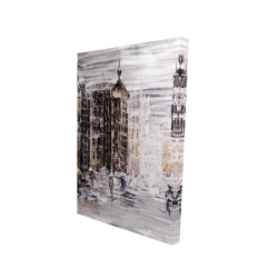 Canvas 24 x 36 - 3D - Industrial abstract city