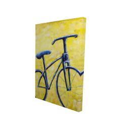 Canvas 24 x 36 - 3D - Blue bike abstract