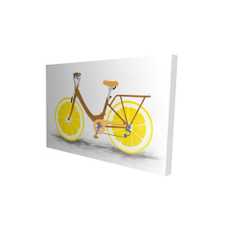 Canvas 24 x 36 - 3D - Lemon wheel bike