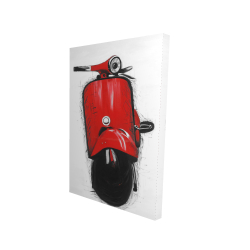 Canvas 24 x 36 - 3D - Red italian scooter