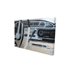 Canvas 24 x 36 - 3D - 1950s car dashboard