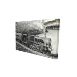 Canvas 24 x 36 - 3D - Vintage passenger locomotive