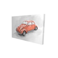 Canvas 24 x 36 - 3D - Vintage red beetle