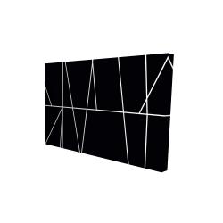 Canvas 24 x 36 - 3D - White stripes on black background