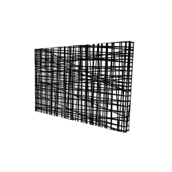 Canvas 24 x 36 - 3D - Abstract small stripes