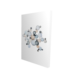 Canvas 24 x 36 - 3D - Grayish bubbles