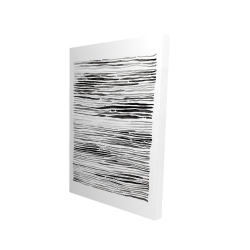 Canvas 24 x 36 - 3D - Gray grooves