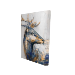 Canvas 24 x 36 - 3D - Golden deer