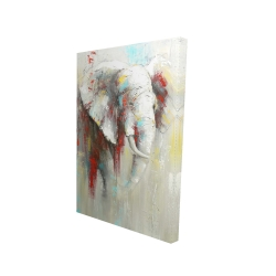 Canvas 24 x 36 - 3D - Abstract elephant with paint splash