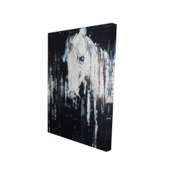 Canvas 24 x 36 - 3D - Abstract horse on black background