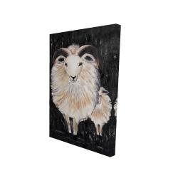 Canvas 24 x 36 - 3D - Two bushy ram