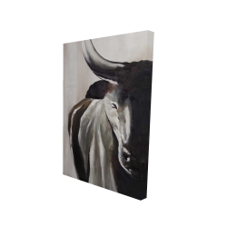 Canvas 24 x 36 - 3D - Bull head front view