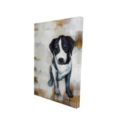 Canvas 24 x 36 - 3D - Sitting dog