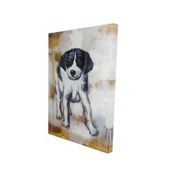 Canvas 24 x 36 - 3D - Curious puppy dog