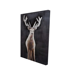 Canvas 24 x 36 - 3D - Lonely deer