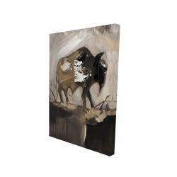 Canvas 24 x 36 - 3D - Abstract buffalo