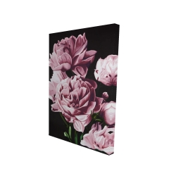 Canvas 24 x 36 - 3D - Pink peonies