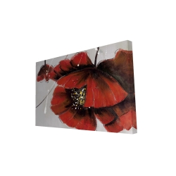 Canvas 24 x 36 - 3D - Red poppy flowers