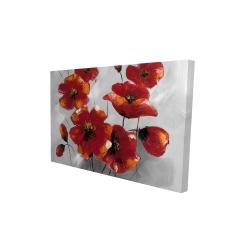 Canvas 24 x 36 - 3D - Anemone flowers