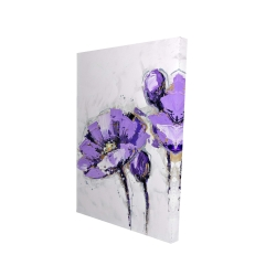 Canvas 24 x 36 - 3D - Purple abstract flowers