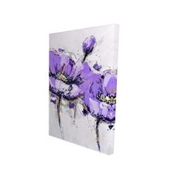 Canvas 24 x 36 - 3D - Purple anemone flowers