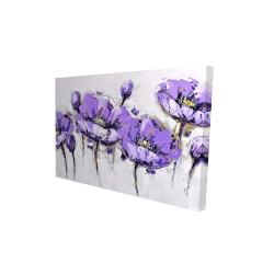 Canvas 24 x 36 - 3D - Abstract purple flowers