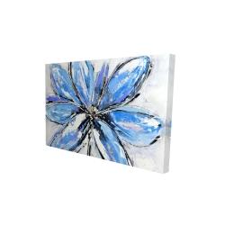 Canvas 24 x 36 - 3D - Blue flower